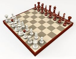 chess 3D model game-ready