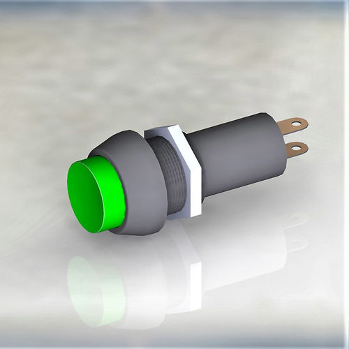 Button switch green