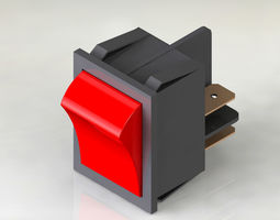 3D power switch red