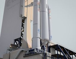Ariane-5 Launch Pad 3D model