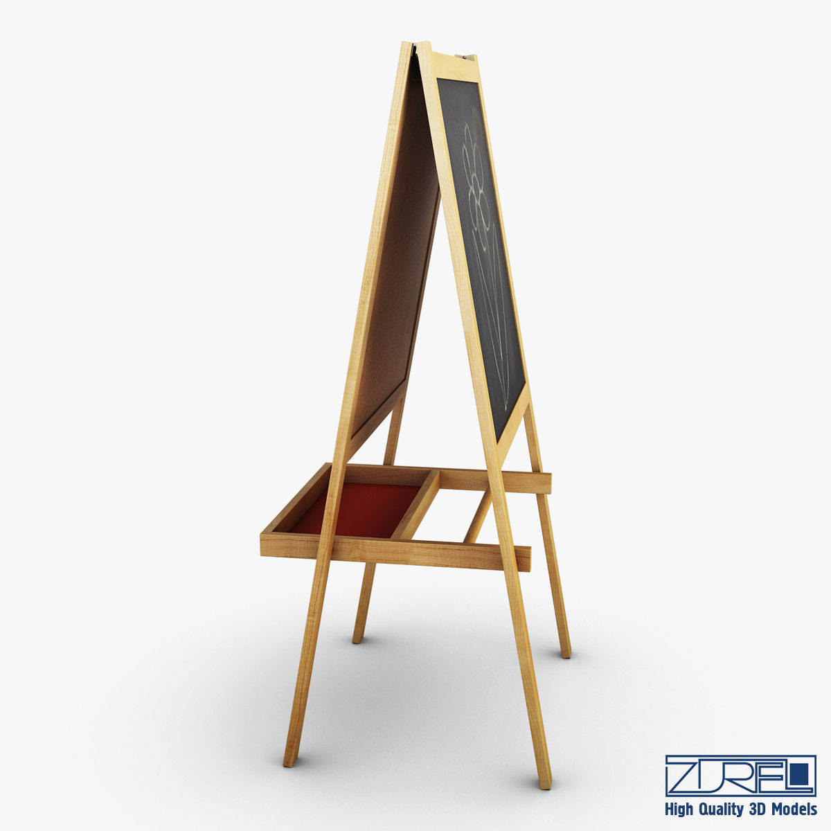 3d Model Ikea Mala Easel Vr Ar Low Poly Max Obj Mtl Fbx