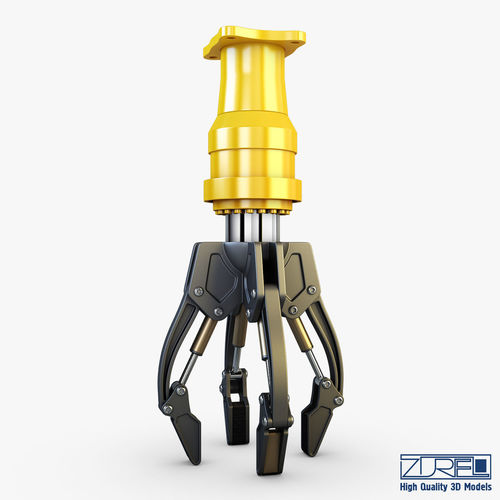 hydraulic grab v 3 3d model max obj mtl fbx 1