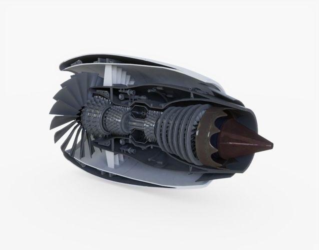 jet engine animated 3d model rigged obj mtl 3ds fbx stl blend dae 1