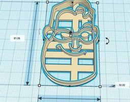 3D printable model Robert The Incredibles Cookie Cutter