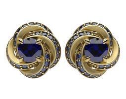 3D print model Earrings Swirl