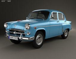AZLK Moskvitch 402 1956 3D