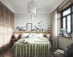 residential-space modern bedroom 3D model