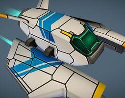 3D asset Sci-Fi Space Gun Fighter Ship - STANDARD - for 3
