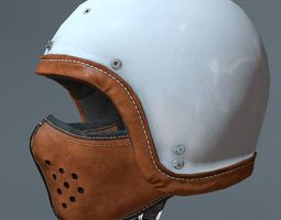 Motorcycle helmet and mask 3D model