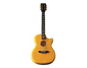 maya Acoustic Guitar 3D