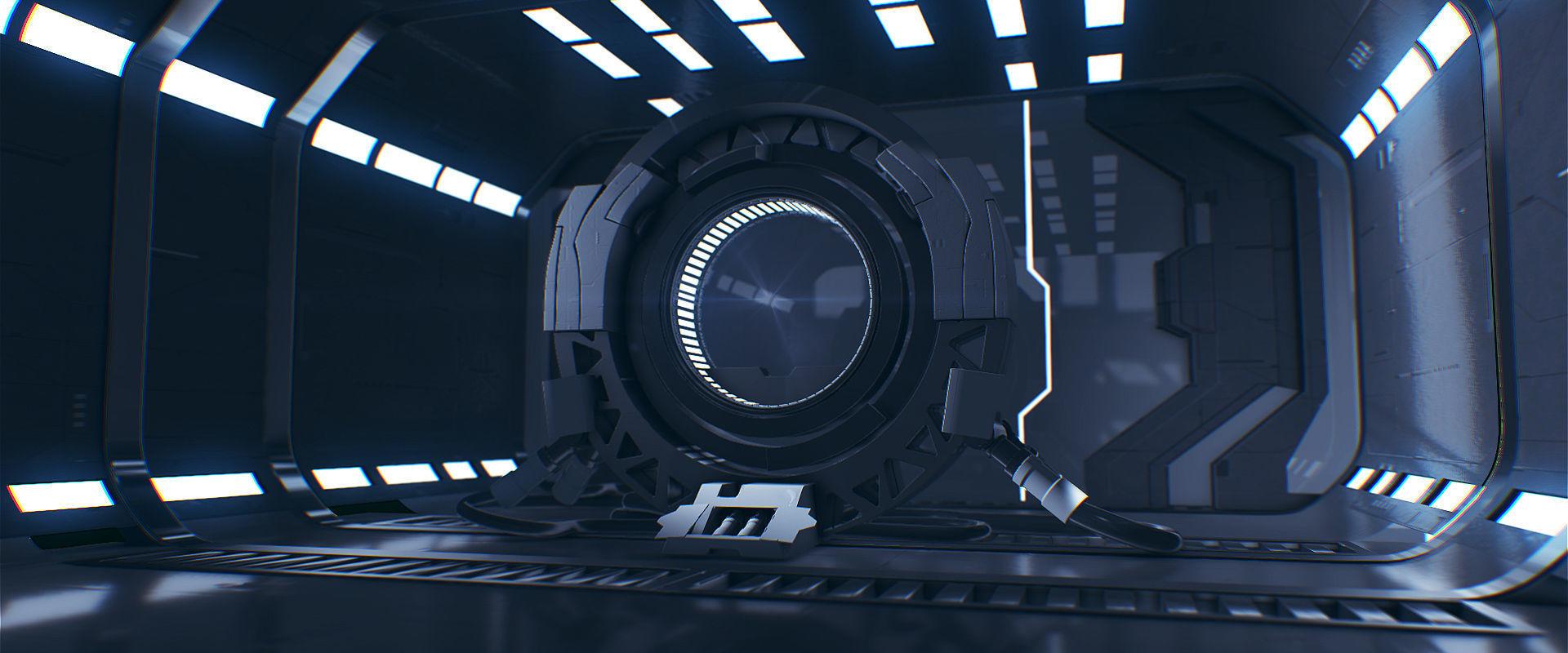 Sci Fi 3D Interior - Maya - 3Ds Max - Cinema 4D - FBX - OBJ