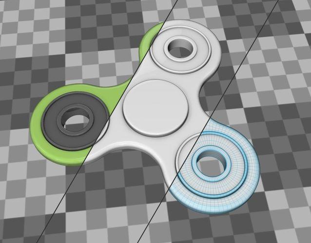 fidget spinner 3d model obj mtl fbx c4d blend dae 1