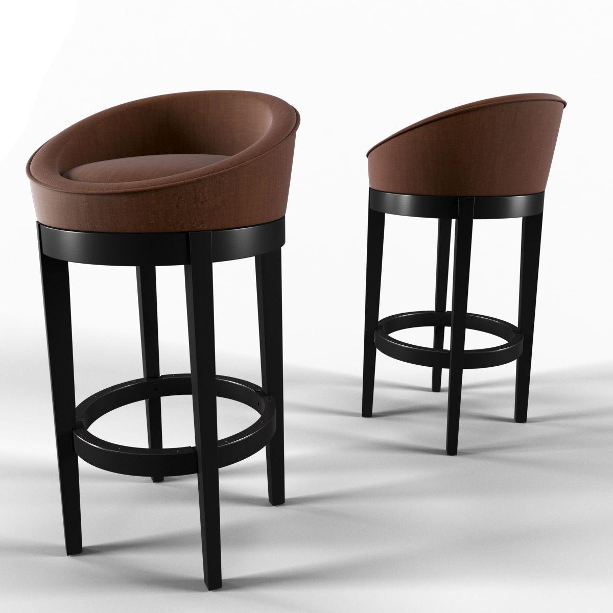 Fantastic Chair No 7 Uris Swivel Microfiber Bar Stool 3D Model Dailytribune Chair Design For Home Dailytribuneorg