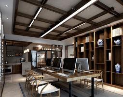3D asset Industrial modern house