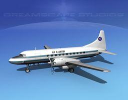 3D Convair CV-340 Air Rajneesh