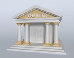 3D asset Cartoon Theater