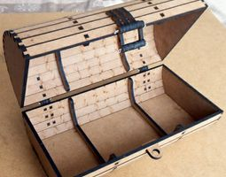 Barrel box Treasure Chest Laser Cutting 3D printable model