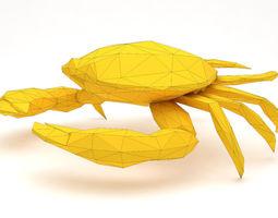 3D printable model low poly crab