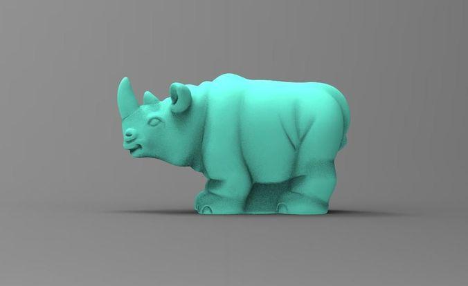 rhinoceros 3d model max obj mtl fbx stl 1