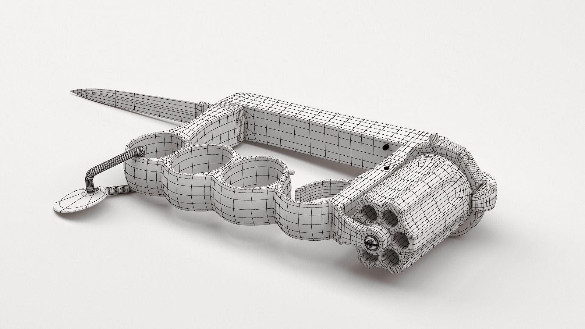 3d model apache revolver cgtrader