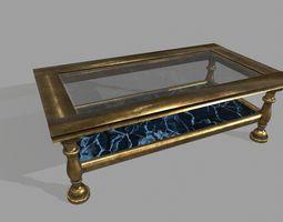 gold tablet PBR low-poly 3d asset