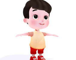 3D asset Cartoon Boy