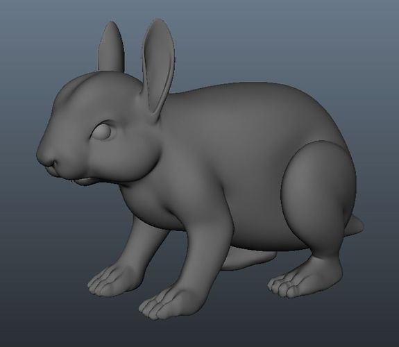 rabbit model 3d model obj mtl fbx ma mb 1