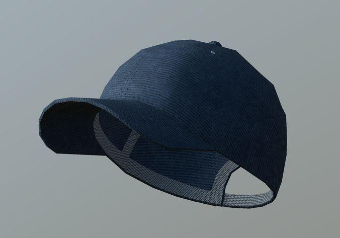 14301748a22 denim cap 3d model low-poly max obj mtl 3ds fbx dae 1 ...