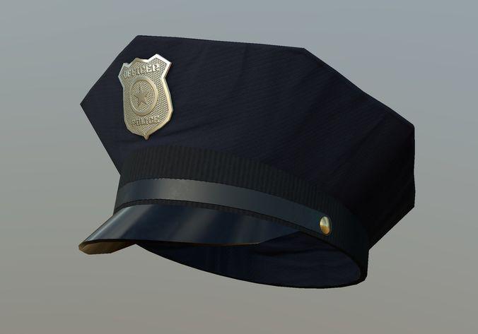 60e8503bd57 3D model Police Cap