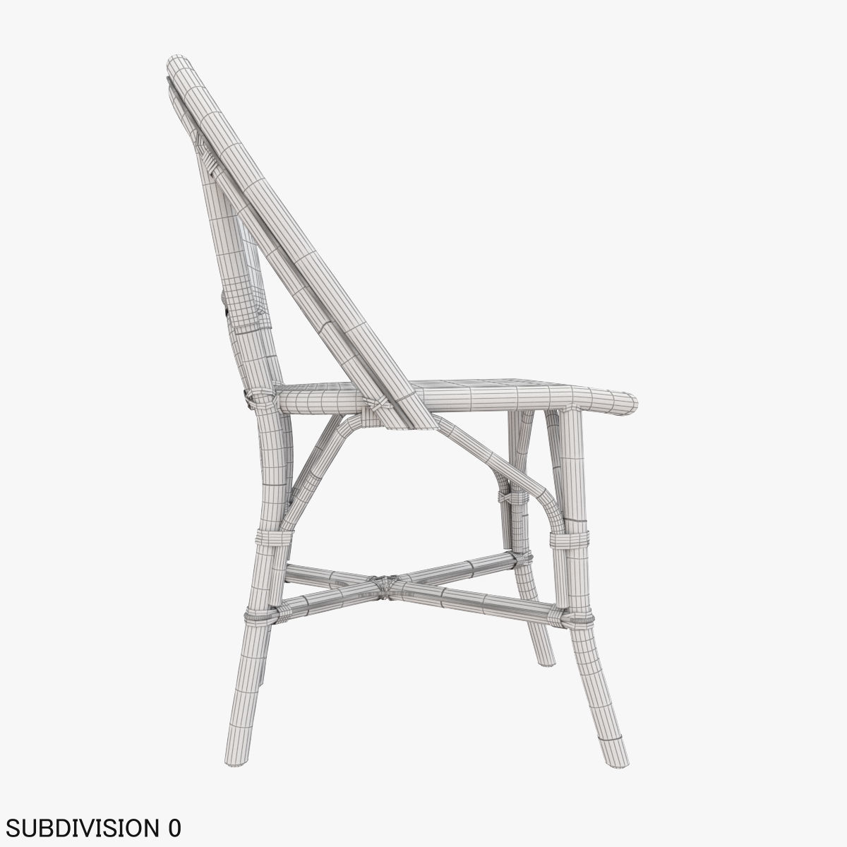 Patio Dining Side Chair | 3D model