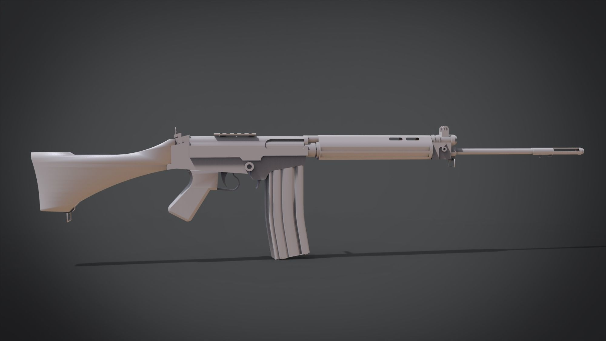 MW2 Fal | 3D Print Model