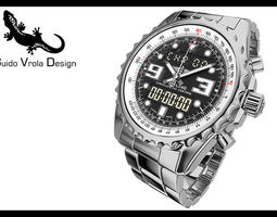 breitling chronospace watch 3d