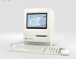 Apple Macintosh Classic 3D computer