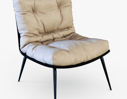 3d model armchair chris