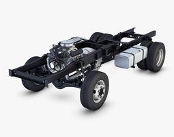 truck chassis 4x4 v 1 3d model