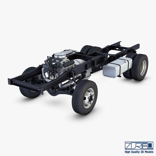 truck chassis 4x4 v 1 3d model max obj mtl fbx 1