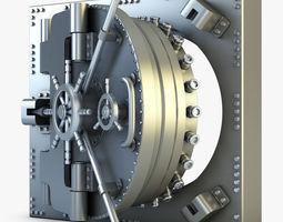3d model bank vault door v 1