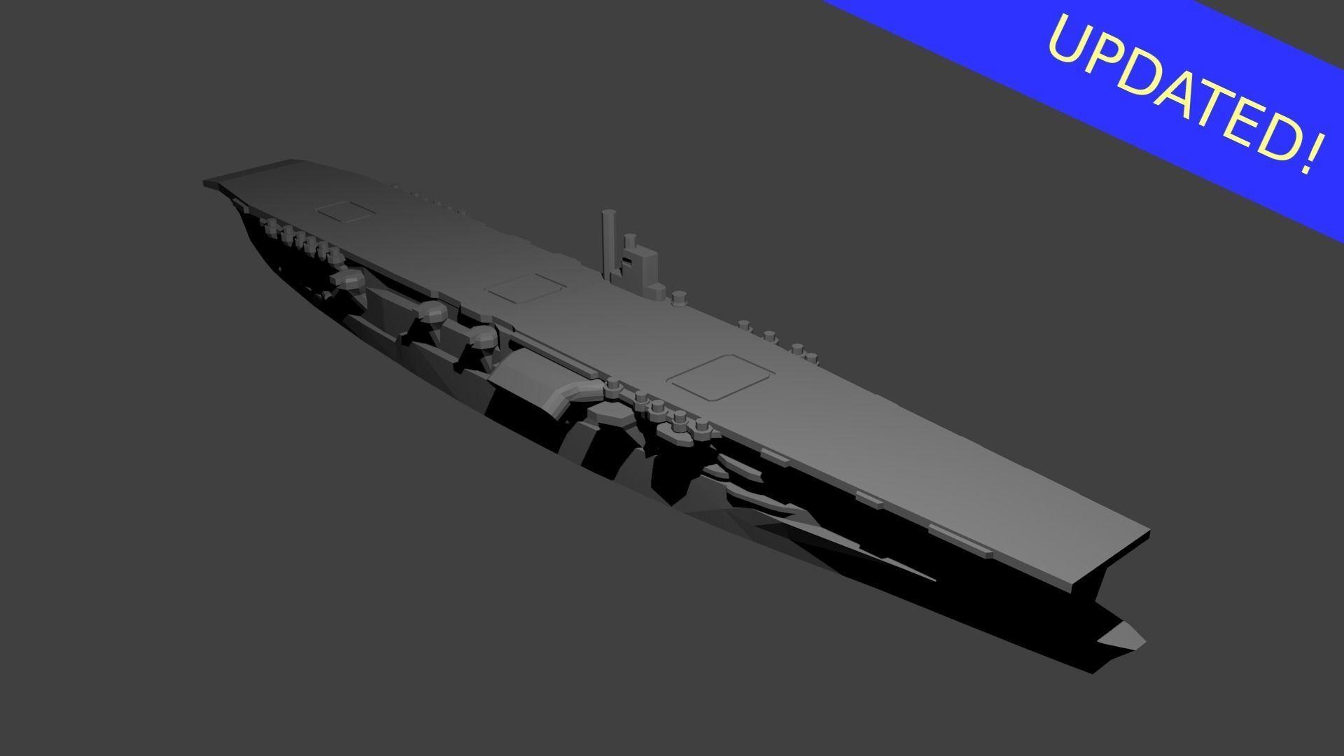 Japanese Aircraft Carrier Akagi | 3D Print Model
