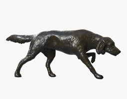 Bronze Sculpture of a Dog - PBR Vray dog 3D asset