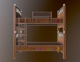 3D asset Kids Double Bed