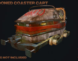 3D model Abandoned Coaster Cart
