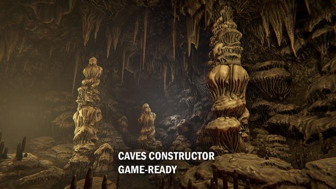 cave constructor 3d model fbx unitypackage prefab uasset 1