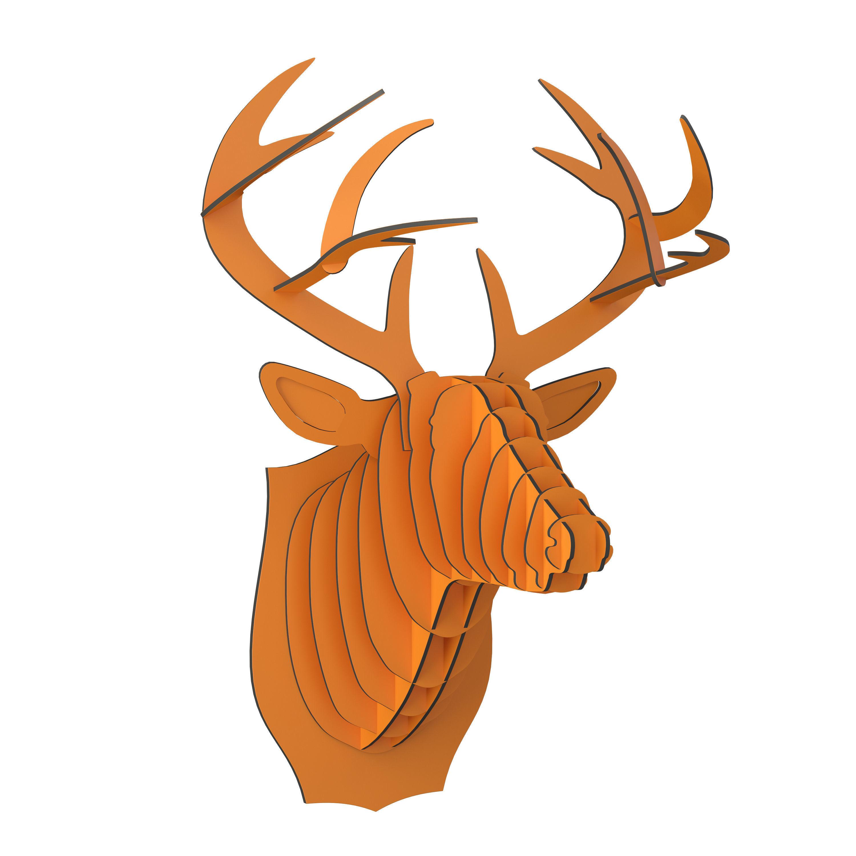 Bucky Cardboard Deer Head 3d Model Max Obj Mtl 3ds Fbx 1