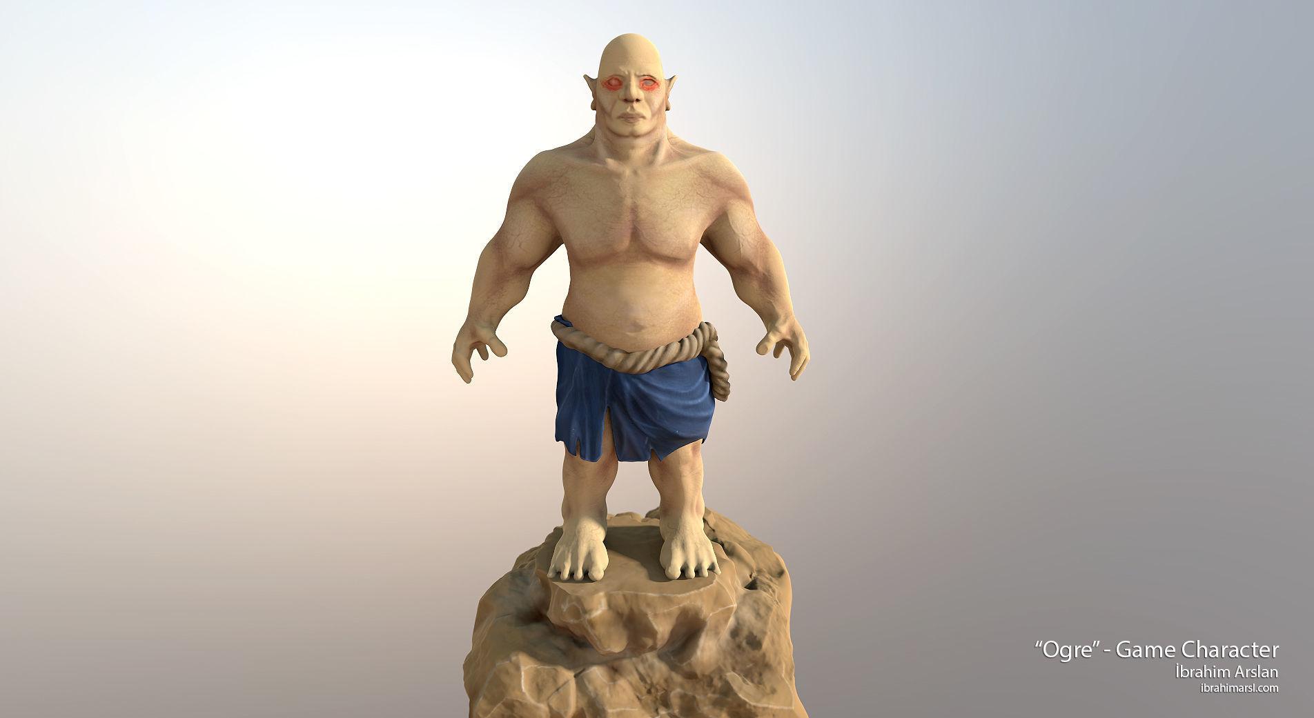 Ogre Fat Troll 3D model