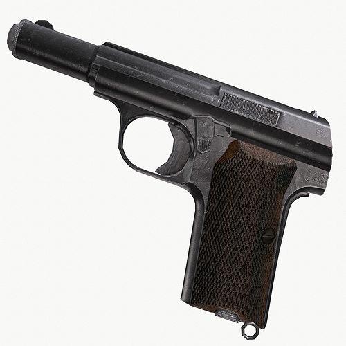 astra 300 gun 3d model low-poly obj mtl fbx ma mb 1