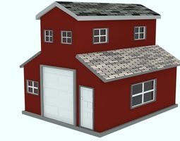 architectural 3D asset low-poly Low Poly House