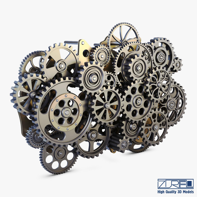 Gear Mechanism Low Poly v 1