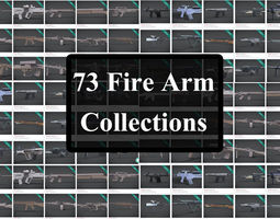 73 firearms collections 3D print model