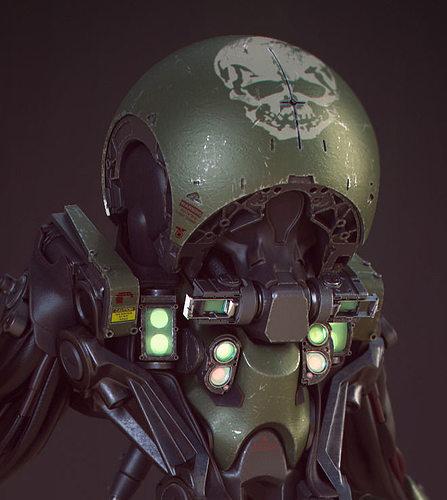 tadpole droid 3d model obj mtl fbx 1
