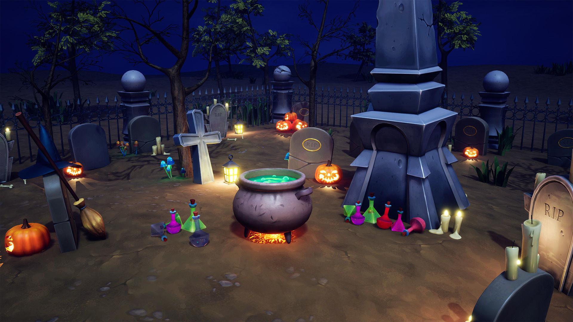 Cartoon Graveyard Props